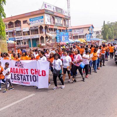 KIEK and Abuja Mums walk against CM (9)